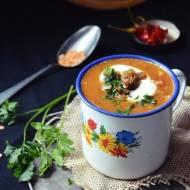 Marokańska zupa z soczewicą i pomidorami