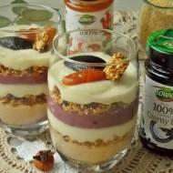 Pudding z kaszy jaglanej z granolą