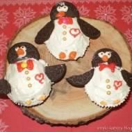 walentynkowe muffinki-pingwinki z oreo i inne cupcakes
