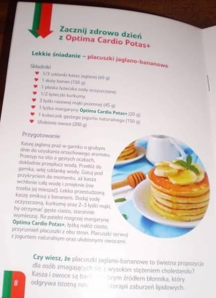 Placuszki jaglano - bananowe z Optima Cardio Potas +