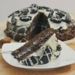 Ciasto oreo z solonym kremem z białej czekolady