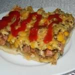 Pizza z kiełbasą i kurczakiem