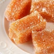 Jabłkowe galaretki w cukrze
