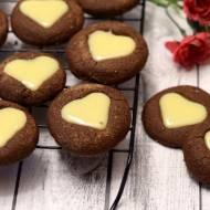 Ciasteczka czekoladowo-miętowe na Walentynki