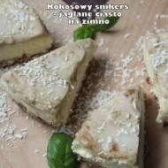 Kokosowy snikers - jaglane ciasto na zimno