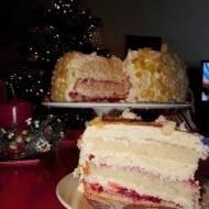 Tort śmietankowo truskawkowy - na szybko