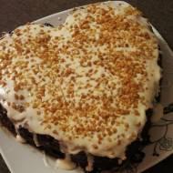 Tort Walentynkowy - czekoladowy.