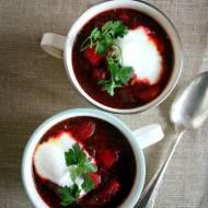 Zupa warzywna z pieczonymi buraczkami