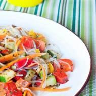 Makaron ryżowy z warzywami. 15 minut!