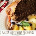 Kaczka nadziewana po chłopsku – kuchnia podkarpacka