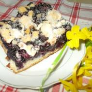 Ciasto borówkowe z posypką