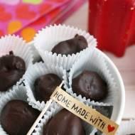 Domowe śliwki w czekoladzie