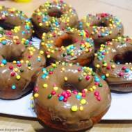 Oponki z polewą czekoladową