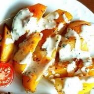 Pieczone ziemniaki w ziołach.
