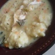 zupa z indykiem  i  ala pierogami