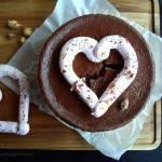 Czekoladowo-różany sernik na Walentynki
