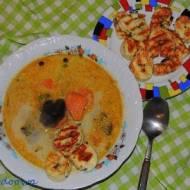 Grzybowa zupa dyniowa