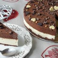 Sernik z czekoladowym musem
