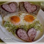 Walentynkowe śniadanko