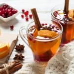 Zimowa herbata z pomarańczą