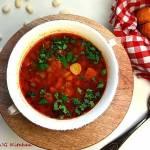 Zupa fasolowa z czosnkiem i ziołami