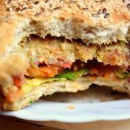 Wegański burger :)