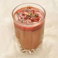 Zdrowy mus czekoladowy z sosem truskawkowo-limonkowym | FIT deser, bez glutenu, bez laktozy |