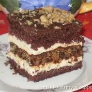 Ciasto Marysieńka -z kremem i orzechami
