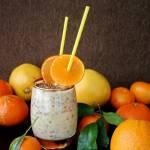 Koktajl  cytrusowy z jogurtem i siemieniem lnianym