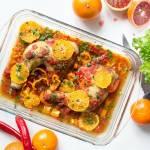 Udka kurczaka w sosie pomidorowo-pomarańczowym