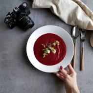 Krem z pieczonych buraków z gorgonzolą