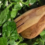 Świeży szpinak z czosnkiem i ziołam prowansalskimi.