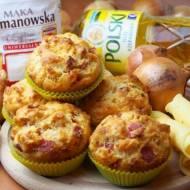 Wytrawne muffinki serowo-cebulowe z salami