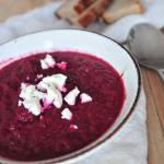 Zupa krem z pieczonych buraczków ćwikłowych