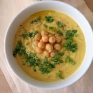 Zupa krem z topinamburu i ciecierzycy (Zuppa crema di topinambur e ceci)