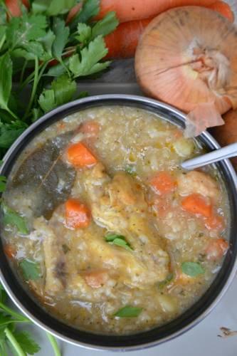 Drobiowa ryżanka