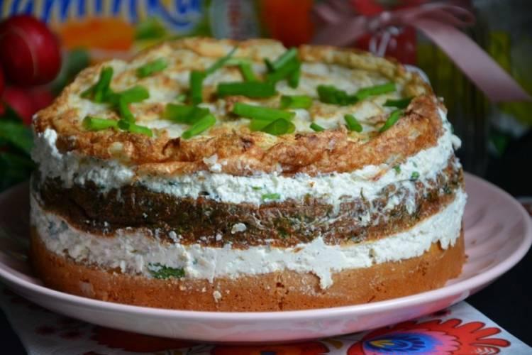 Tort warzywny Hortex z twarogiem