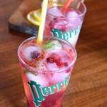 Chłodzący napój na bazie wody Perrier