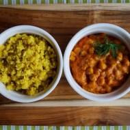 Wegańskie pomidorowe curry z ciecierzycą