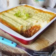 Cottage pie - zapiekanka z mięsa mielonego i purre ziemniaczanego