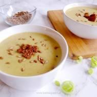 Zupa-krem z pora | Fit krem z pora z kaszą jaglaną