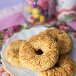 Kokosowo - kukurydziane bajgle z kremowym serkiem (bezglutenowe, bez cukru, bez jajek)
