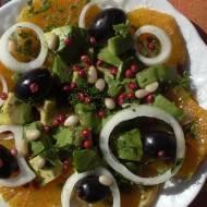 Awokado, pomarańcza, migdały…przepis śródziemnomorski