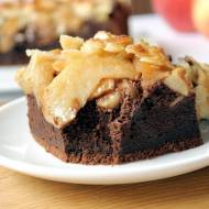 Ciasto na niedzielę szybkie i łatwe #16 Brownie z jabłkami i karmelizowanymi migdałami