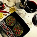 Grzyby portobello faszerowane kaszą kuskus z pietruszkowym pesto