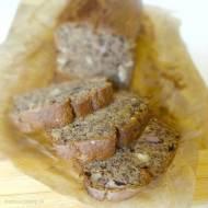 Banana bread | Chlebek bananowy z mąki pełnoziarnistej z orzechami