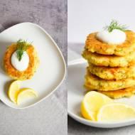 Placuszki z kaszy jaglanej z wędzonym łososiem (4 składniki)