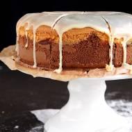 Dwukolorowe ciasto z twarogiem