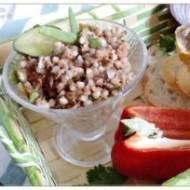Pasta tuńczykowa z kaszą gryczaną i ogórkiem konserwowym