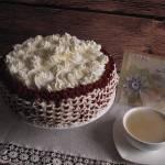 Kawowo śmietankowy tort z ptasim mleczkiem